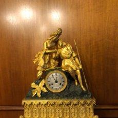 Relojes de carga manual: RELOJ SOBREMESA BRONCE DORADO AL MERCURIO. Lote 110497030