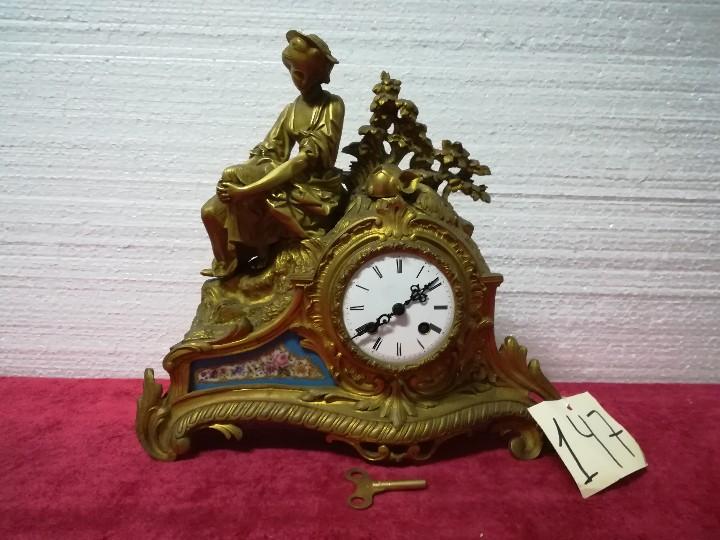 Relojes de carga manual: RELOJ DE SOBREMESA ESTILO NAPOLEÓN III- 1850-1870, 6000-147 - Foto 13 - 43451443