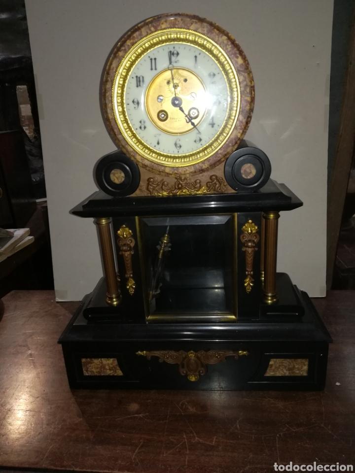 RELOJ FRANCÉS DE MERCURIO XIX MUY BIEN CONSERVADO EN MARCHA (Relojes - Sobremesa Carga Manual)