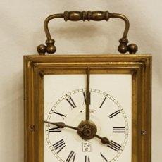 Relojes de carga manual: RELOJ PORTÁTIL DE CARRUAJE FRANCÉS. MARCA FJC. SIGLO XIX. Lote 111543715