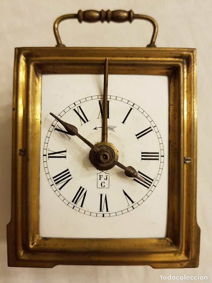Relojes de carga manual: Reloj portátil de carruaje francés. Marca FJC. Siglo XIX - Foto 2 - 111543715