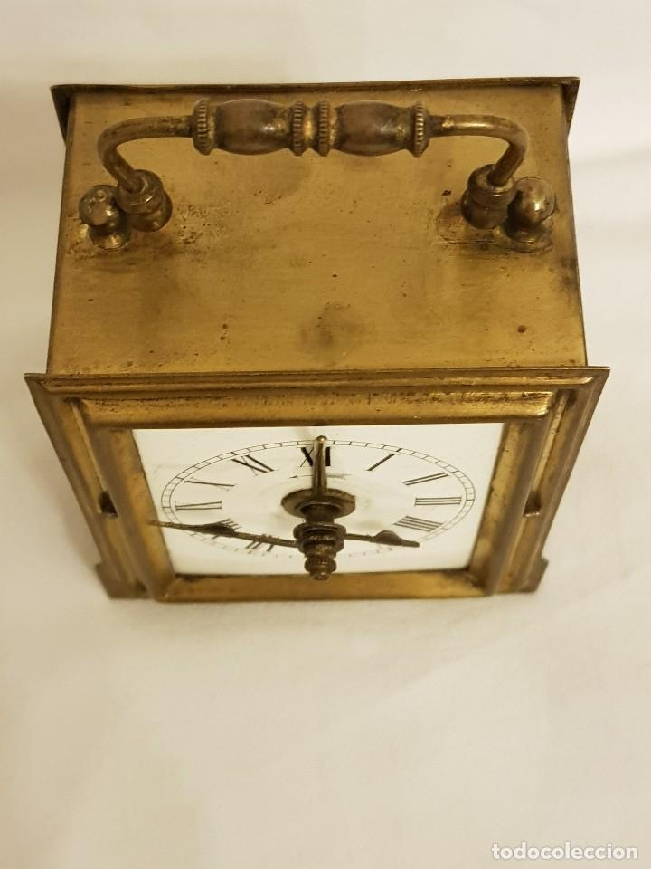 Relojes de carga manual: Reloj portátil de carruaje francés. Marca FJC. Siglo XIX - Foto 4 - 111543715