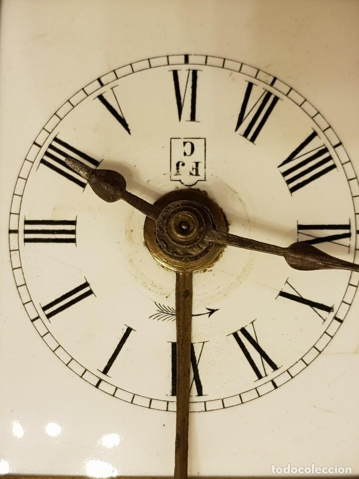 Relojes de carga manual: Reloj portátil de carruaje francés. Marca FJC. Siglo XIX - Foto 5 - 111543715
