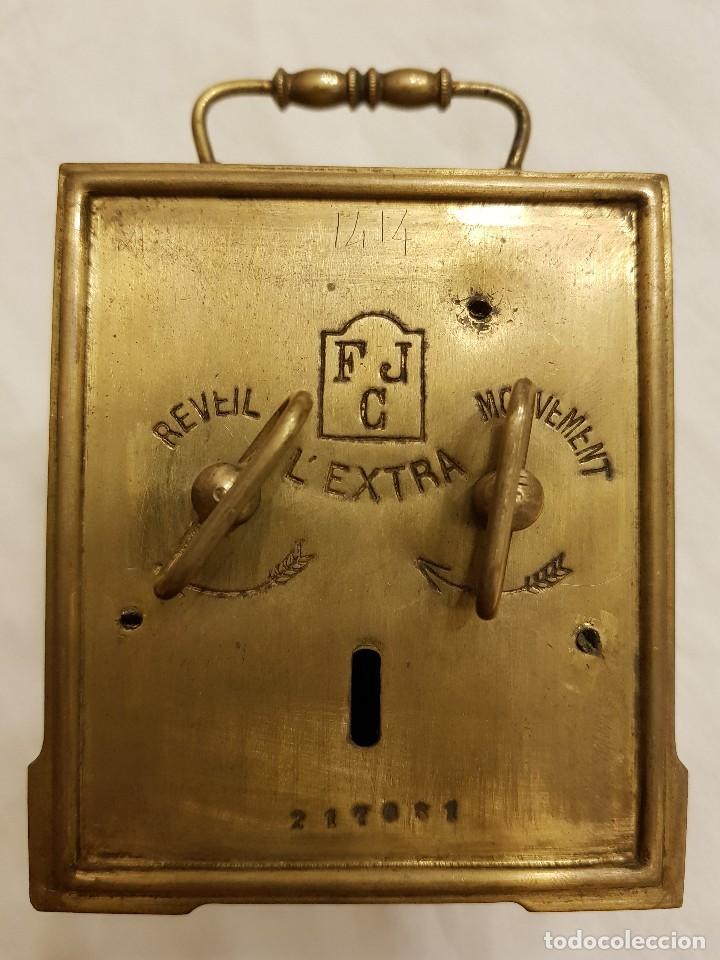 Relojes de carga manual: Reloj portátil de carruaje francés. Marca FJC. Siglo XIX - Foto 6 - 111543715