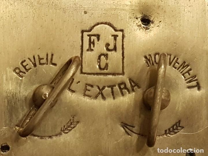 Relojes de carga manual: Reloj portátil de carruaje francés. Marca FJC. Siglo XIX - Foto 7 - 111543715