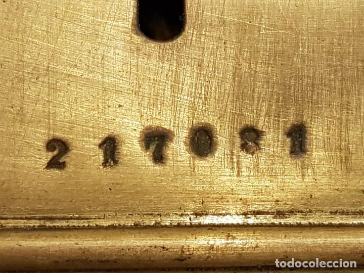 Relojes de carga manual: Reloj portátil de carruaje francés. Marca FJC. Siglo XIX - Foto 8 - 111543715
