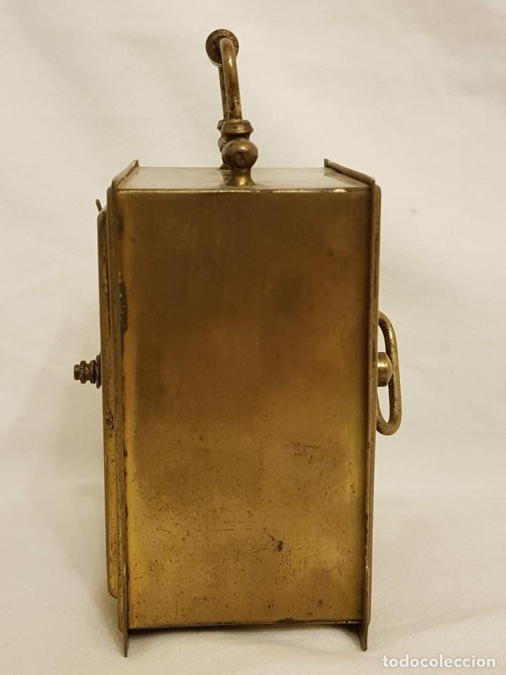 Relojes de carga manual: Reloj portátil de carruaje francés. Marca FJC. Siglo XIX - Foto 9 - 111543715
