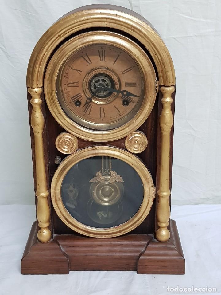 RELOJ SOBREMESA. MÁQUINA ANSONIA PARA JUAN SHAW E HIJOS. BUENOS AYRES (ARGENTINA). FINALES SIGLO XIX (Relojes - Sobremesa Carga Manual)