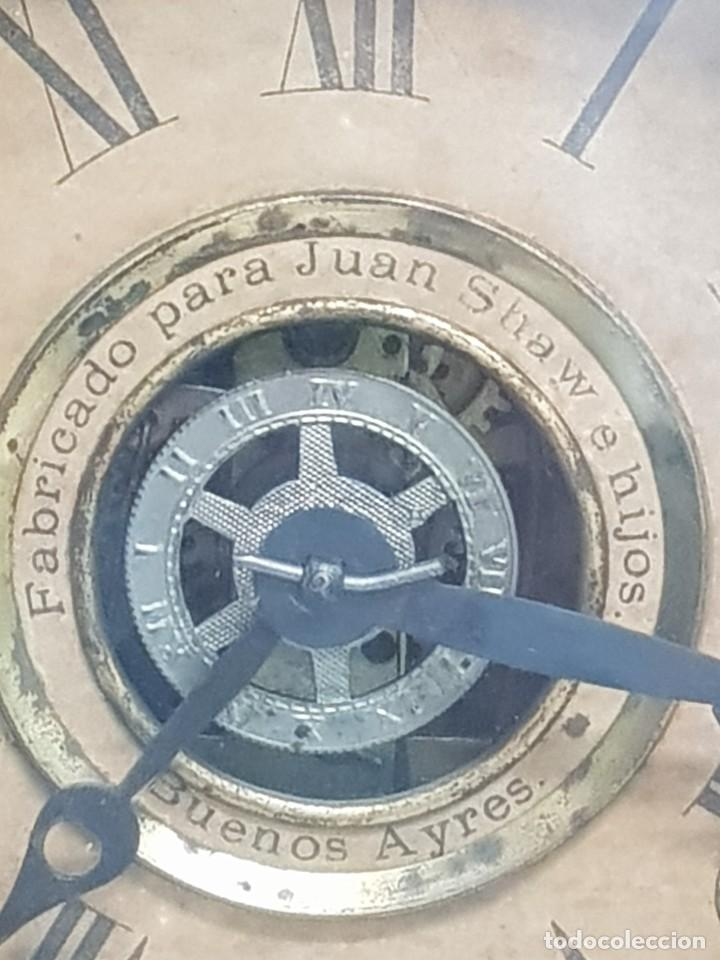 Relojes de carga manual: Reloj sobremesa. Máquina Ansonia para Juan Shaw e Hijos. Buenos Ayres (Argentina). Finales siglo XIX - Foto 2 - 111544007
