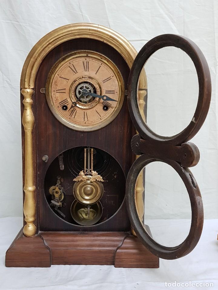 Relojes de carga manual: Reloj sobremesa. Máquina Ansonia para Juan Shaw e Hijos. Buenos Ayres (Argentina). Finales siglo XIX - Foto 3 - 111544007