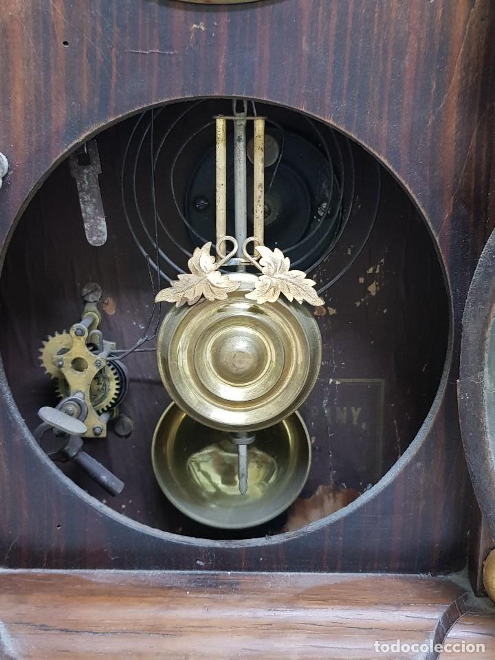 Relojes de carga manual: Reloj sobremesa. Máquina Ansonia para Juan Shaw e Hijos. Buenos Ayres (Argentina). Finales siglo XIX - Foto 4 - 111544007