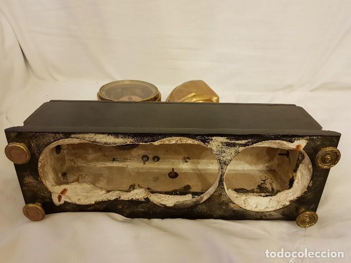 Relojes de carga manual: Reloj francés de calamina y mármol. P. Lesperut Fils Aine à Paris - Foto 9 - 112478035