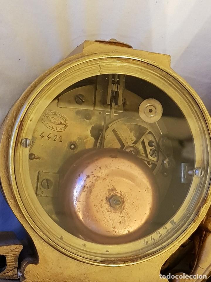 Relojes de carga manual: Reloj francés de calamina y mármol. P. Lesperut Fils Aine à Paris - Foto 10 - 112478035