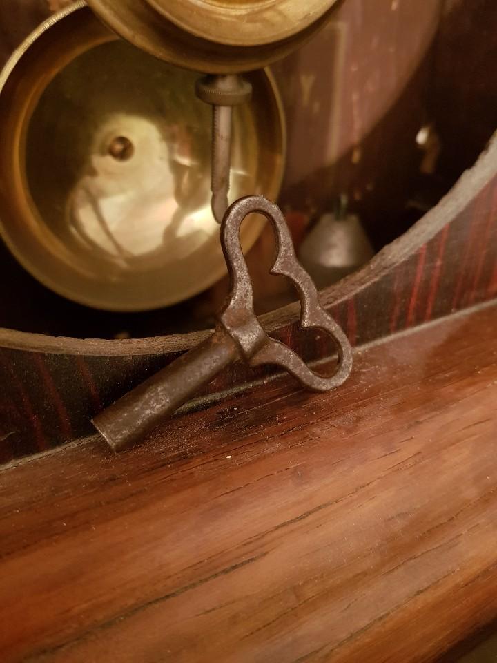 Relojes de carga manual: Reloj sobremesa. Máquina Ansonia para Juan Shaw e Hijos. Buenos Ayres (Argentina). Finales siglo XIX - Foto 6 - 111544007