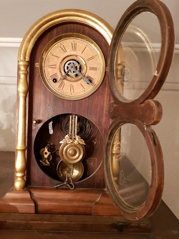 Relojes de carga manual: Reloj sobremesa. Máquina Ansonia para Juan Shaw e Hijos. Buenos Ayres (Argentina). Finales siglo XIX - Foto 7 - 111544007