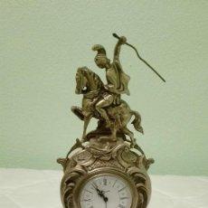 Relojes de carga manual: RELOJ DE BRONCE JINETE A CABALLO... Lote 113435183