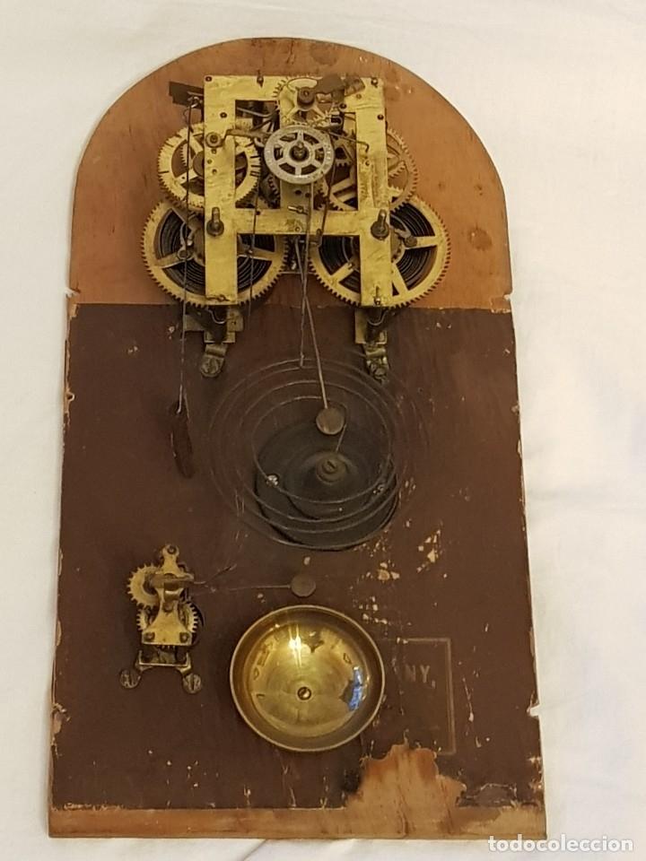 Relojes de carga manual: Reloj sobremesa. Máquina Ansonia para Juan Shaw e Hijos. Buenos Ayres (Argentina). Finales siglo XIX - Foto 9 - 111544007