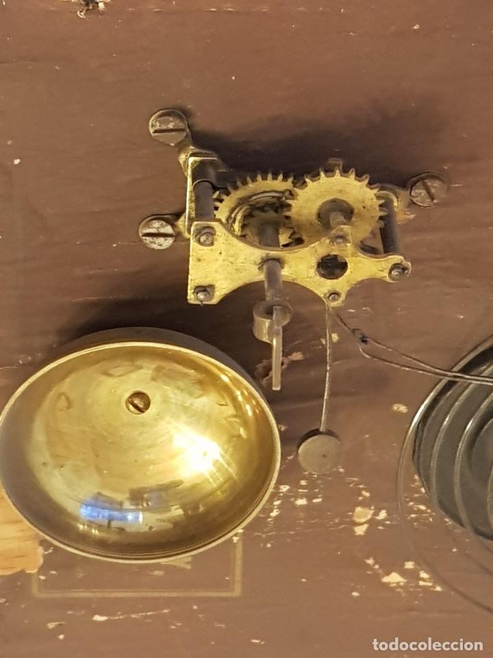 Relojes de carga manual: Reloj sobremesa. Máquina Ansonia para Juan Shaw e Hijos. Buenos Ayres (Argentina). Finales siglo XIX - Foto 10 - 111544007