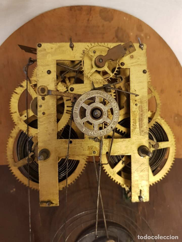 Relojes de carga manual: Reloj sobremesa. Máquina Ansonia para Juan Shaw e Hijos. Buenos Ayres (Argentina). Finales siglo XIX - Foto 11 - 111544007