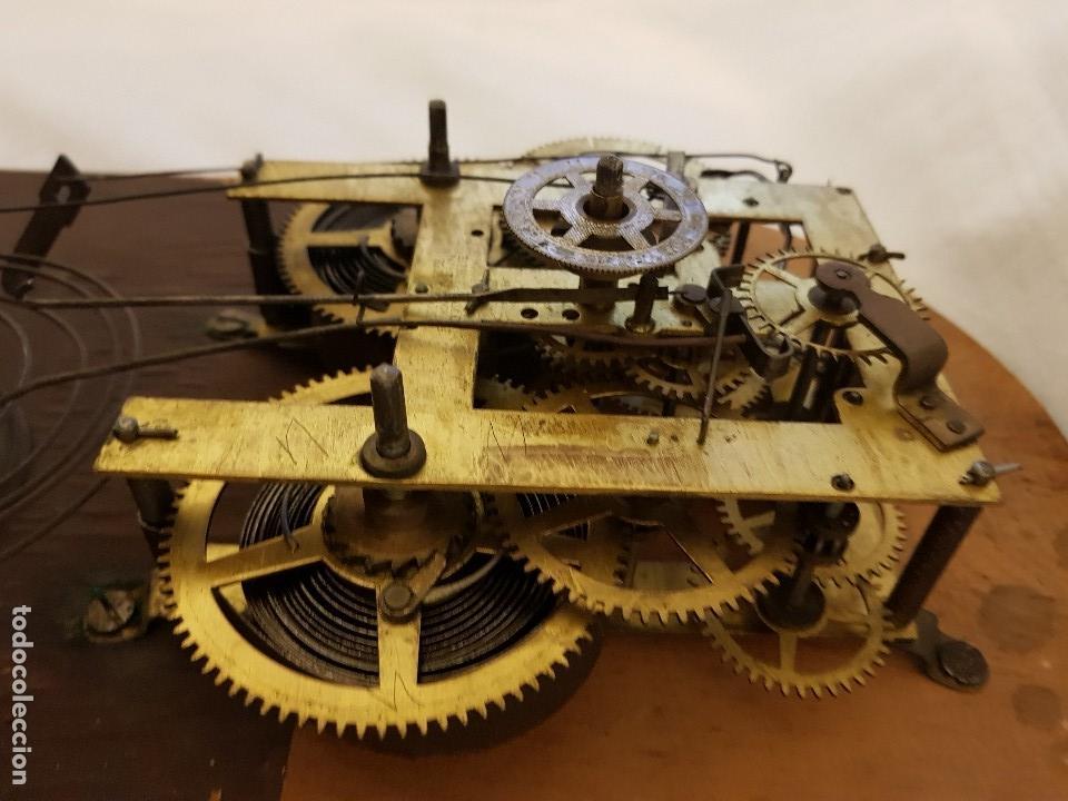 Relojes de carga manual: Reloj sobremesa. Máquina Ansonia para Juan Shaw e Hijos. Buenos Ayres (Argentina). Finales siglo XIX - Foto 12 - 111544007