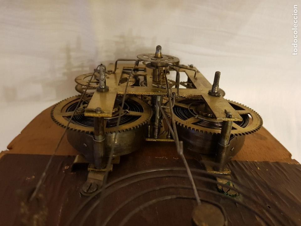 Relojes de carga manual: Reloj sobremesa. Máquina Ansonia para Juan Shaw e Hijos. Buenos Ayres (Argentina). Finales siglo XIX - Foto 14 - 111544007