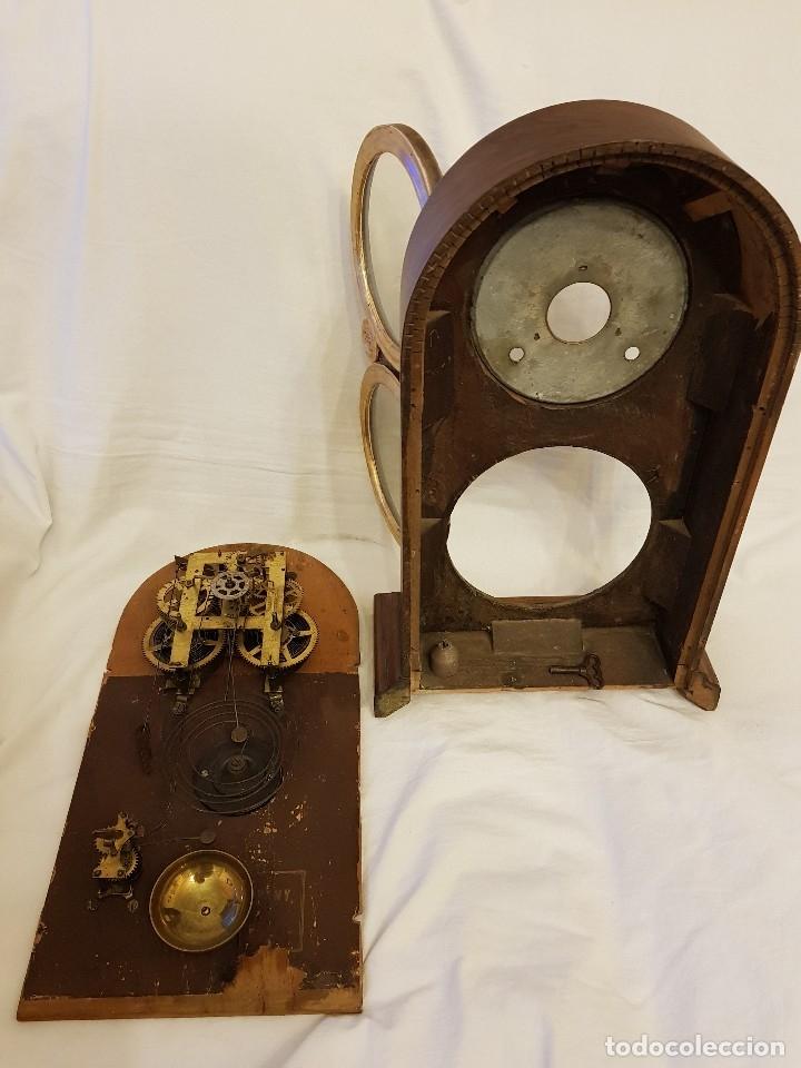 Relojes de carga manual: Reloj sobremesa. Máquina Ansonia para Juan Shaw e Hijos. Buenos Ayres (Argentina). Finales siglo XIX - Foto 16 - 111544007