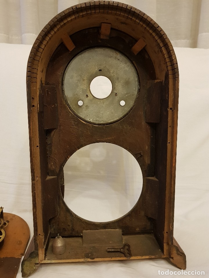 Relojes de carga manual: Reloj sobremesa. Máquina Ansonia para Juan Shaw e Hijos. Buenos Ayres (Argentina). Finales siglo XIX - Foto 17 - 111544007