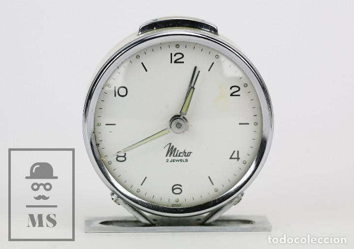 Relojes de carga manual: Antiguo Reloj Despertador de Sobremesa - Micro 2 Jewels - Años 50-60 - Piezas / Restauración - Foto 2 - 115550443