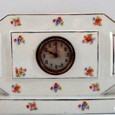 Relojes de carga manual: RELOJ FRANCES DE LOZA PINTADA - ART DECO, PRINCIPIO DEL SIGLO XX. Lote 116188483