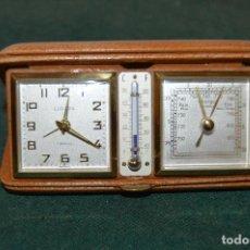 Relojes de carga manual: ANTIGUO RELOJ-ESTACIÓN METEOROLÓGICA DE VIAJE ¨EUROPA¨, PIEL, MAGNÍFICO ESTADO, AÑOS 30.. Lote 116656535