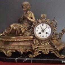 Relojes de carga manual: RELOJ BRONCE MAQUINARÍA DE PARIS JAPY FRERES. Lote 116769079