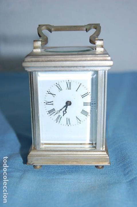 RELOJ VIAJE METAL PLATEADO (Relojes - Sobremesa Carga Manual)