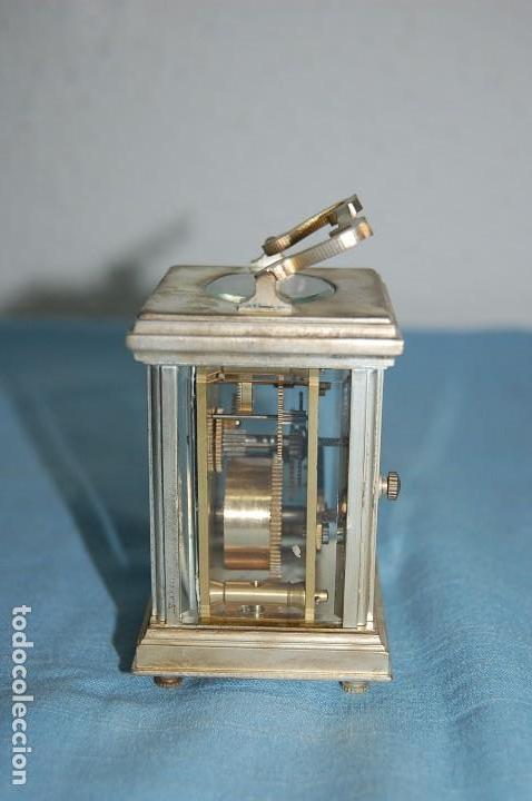 Relojes de carga manual: RELOJ VIAJE METAL PLATEADO - Foto 3 - 117580279