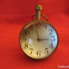 Relojes de carga manual: RELOJ SOBREMESA FORMA DE BOLA CRISTAL ANTIGUO. Lote 117976363
