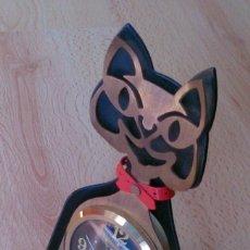 Relojes de carga manual: RELOJ ANTIGUO A CUERDA DE SOBREMESA ALEMÁN GATO KATZE. Lote 118016455
