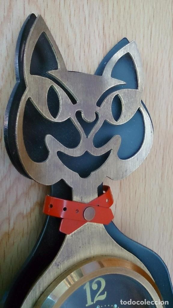 Relojes de carga manual: Reloj antiguo a cuerda de sobremesa Alemán gato Katze - Foto 2 - 118016455