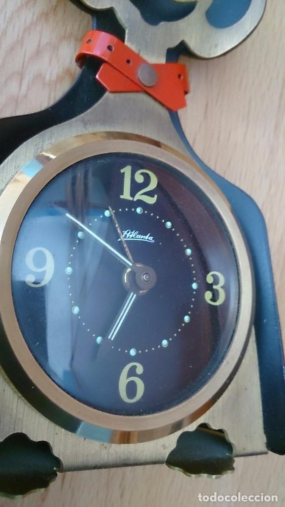 Relojes de carga manual: Reloj antiguo a cuerda de sobremesa Alemán gato Katze - Foto 4 - 118016455