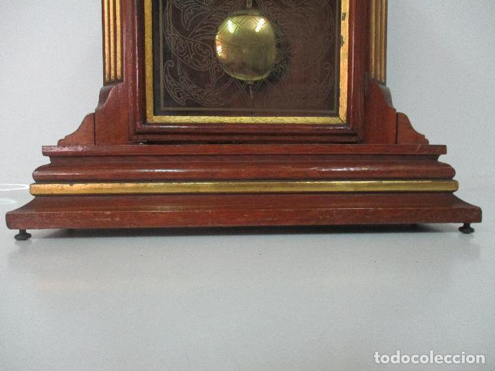 Relojes de carga manual: Bonito Reloj de Sobremesa, Carga Manual - Marca Geides - Madera de Roble - Completo - Funciona - Foto 4 - 118783499