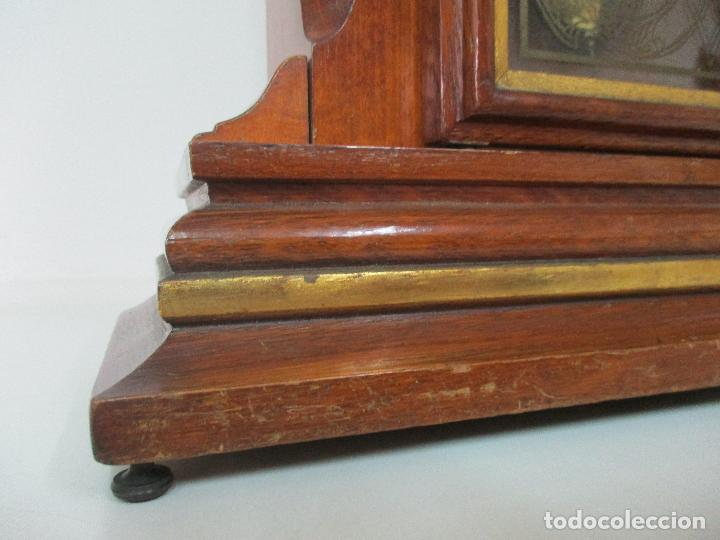 Relojes de carga manual: Bonito Reloj de Sobremesa, Carga Manual - Marca Geides - Madera de Roble - Completo - Funciona - Foto 5 - 118783499