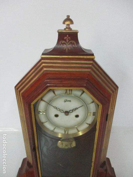 Relojes de carga manual: Bonito Reloj de Sobremesa, Carga Manual - Marca Geides - Madera de Roble - Completo - Funciona - Foto 7 - 118783499