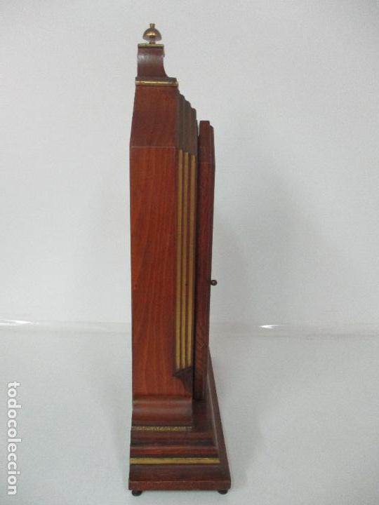 Relojes de carga manual: Bonito Reloj de Sobremesa, Carga Manual - Marca Geides - Madera de Roble - Completo - Funciona - Foto 16 - 118783499