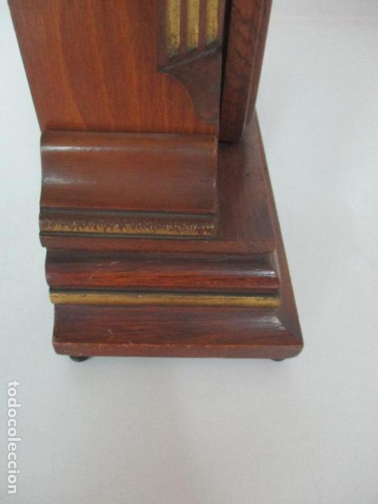 Relojes de carga manual: Bonito Reloj de Sobremesa, Carga Manual - Marca Geides - Madera de Roble - Completo - Funciona - Foto 17 - 118783499