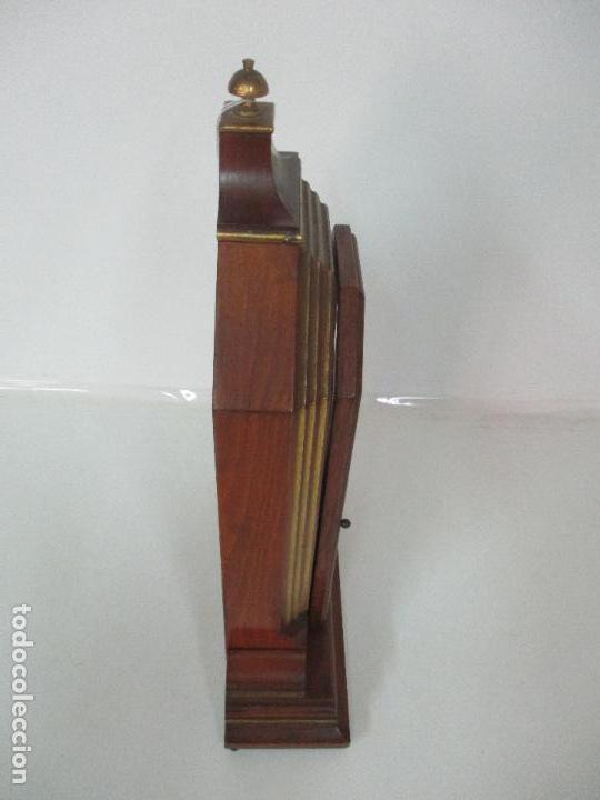 Relojes de carga manual: Bonito Reloj de Sobremesa, Carga Manual - Marca Geides - Madera de Roble - Completo - Funciona - Foto 18 - 118783499