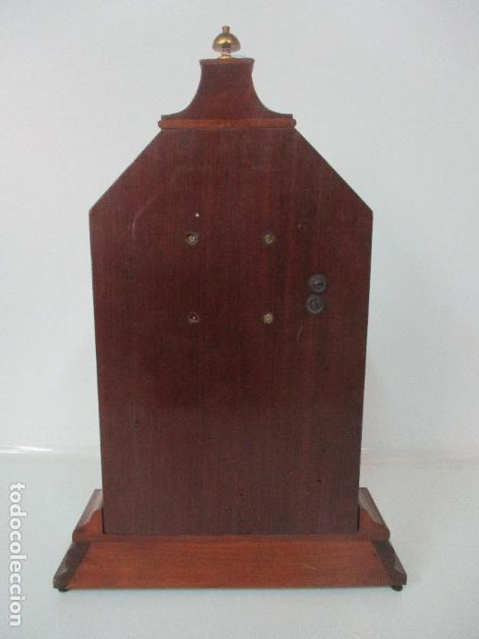 Relojes de carga manual: Bonito Reloj de Sobremesa, Carga Manual - Marca Geides - Madera de Roble - Completo - Funciona - Foto 20 - 118783499