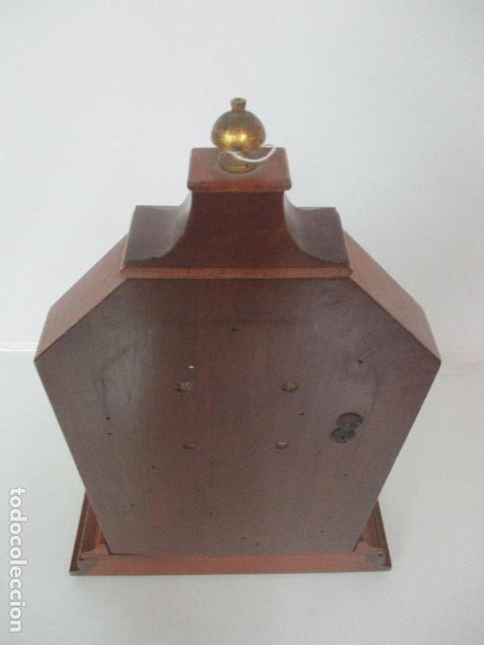 Relojes de carga manual: Bonito Reloj de Sobremesa, Carga Manual - Marca Geides - Madera de Roble - Completo - Funciona - Foto 21 - 118783499