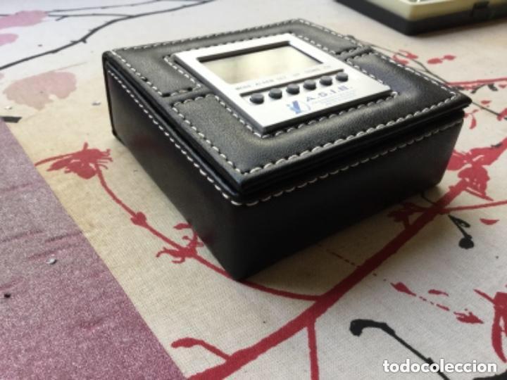Relojes de carga manual: CAJA CUERO RELOJ DIGITAL CON ALARMA A PILAS DE BOTÓN - Foto 4 - 118950119