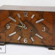 Relojes de carga manual: ANTIGUO RELOJ ART DÉCO DE SOBREMESA - MARCA ORIGINAL, CAJA RECTANGULAR - AÑOS 30-40 - FUNCIONANDO. Lote 119427855