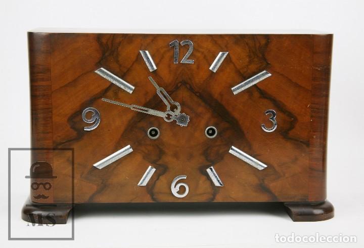 Relojes de carga manual: Antiguo Reloj Art Déco de Sobremesa - Marca Original, Caja Rectangular - Años 30-40 - Funcionando - Foto 2 - 119427855