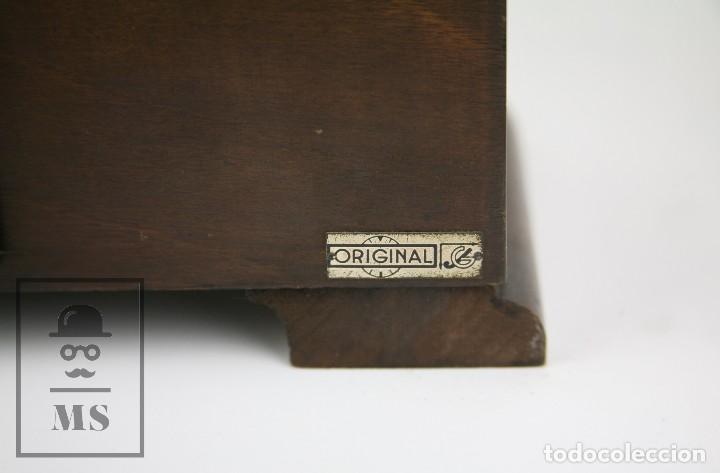 Relojes de carga manual: Antiguo Reloj Art Déco de Sobremesa - Marca Original, Caja Rectangular - Años 30-40 - Funcionando - Foto 9 - 119427855
