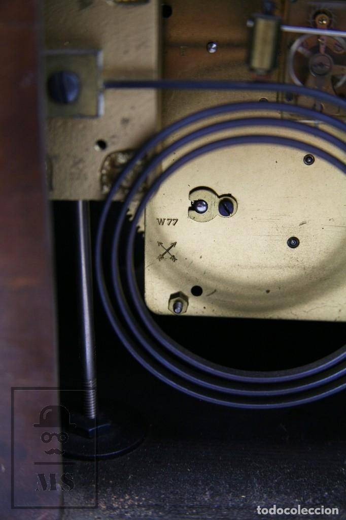 Relojes de carga manual: Antiguo Reloj Art Déco de Sobremesa - Marca Original, Caja Rectangular - Años 30-40 - Funcionando - Foto 12 - 119427855